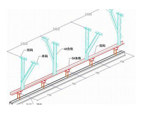 活动隔断轨道结构图