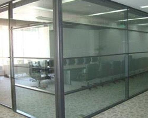 双层玻璃隔断