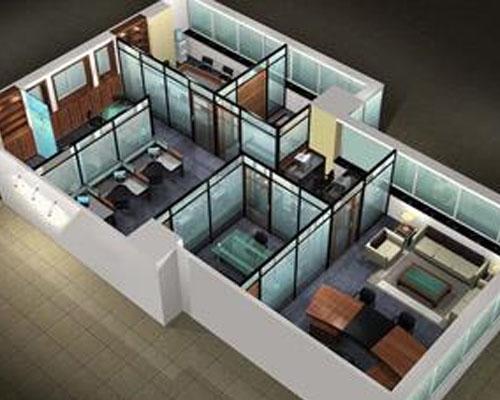 郑州85款办公室整体鸟瞰图